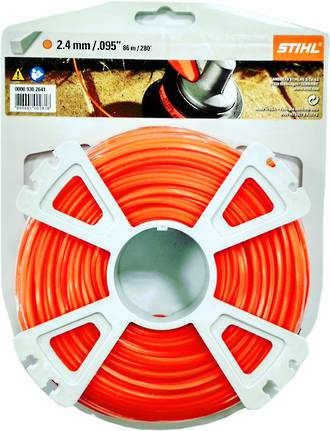STIHL Square Nylon 2.4mm Orange - 86m