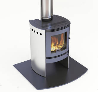 Bosca Spirit 550 Stainless Steel Fireplace