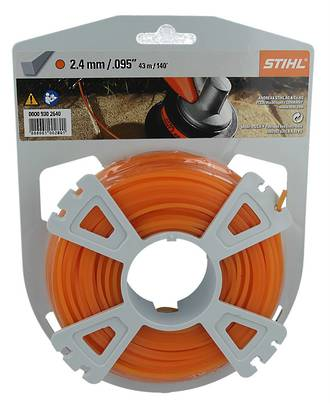 STIHL Square Nylon 2.4mm Orange - 43m