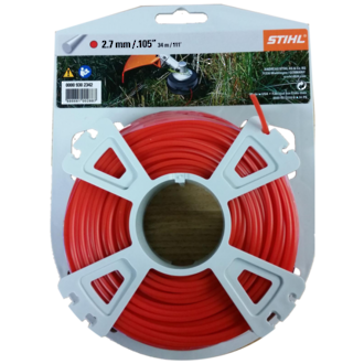 STIHL Round Nylon 2.7mm Red - 34m