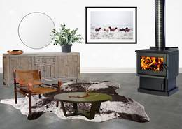 Yunca Monte Hybrid Multi-Fuel Fireplace