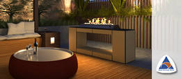 Rinnai Impression Outdoor Gas Fire-Free Standing